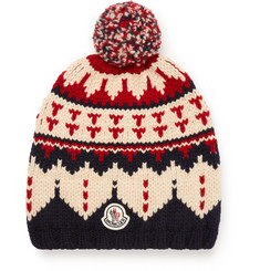 Moncler Fair Isle Virgin Wool Bobble Hat