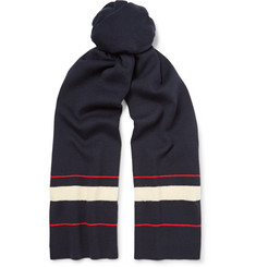 Dries Van Noten Striped Ribbed Wool Scarf