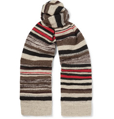 Dries Van Noten Striped Intarsia Wool Scarf