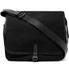 Dries Van Noten Leather-Trimmed Canvas Messenger Bag