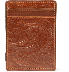 Dries Van Noten Embossed Leather Magic Cardholder
