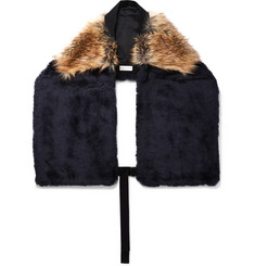 Dries Van Noten Two-Tone Faux Fur Scarf