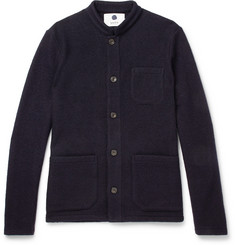 NN07 Slim-Fit Mandarin-Collar Boiled Wool Jacket