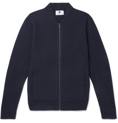 NN07 Jake Boiled Wool Zip-Up Sweater