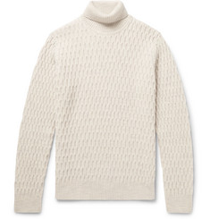 NN07 - Andreas Honeycomb-Knit Virgin Wool Rollneck Sweater