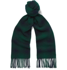 NN07 - Fringed Checked Wool Scarf