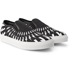 Neil Barrett - Printed Canvas Slip-On Sneakers