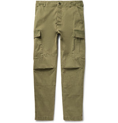 Officine Generale Zach Garment-Dyed Cotton-Twill Cargo Trousers