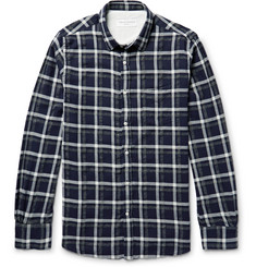 Officine Generale - Lipp Checked Stretch Cotton-Blend Shirt