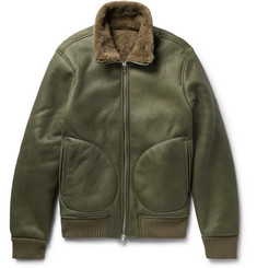Officine Generale Sasha Shearling Flight Jacket