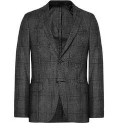 Officine Generale Grey Slim-Fit Prince of Wales Checked Wool Blazer