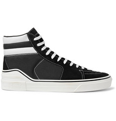 Givenchy George V Suede and Cotton-Canvas High-Top Sneakers