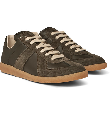 Replica Suede And Leather Sneakers - Green