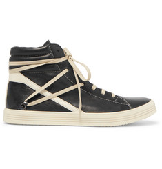 Rick Owens Thrasher Leather High-Top Sneakers