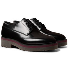Lanvin Polished-Leather Derby Shoes