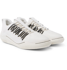 Lanvin - Leather-Trimmed Mesh Sneakers
