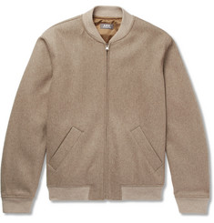 A.P.C. - Gaston Wool-Blend Felt Bomber Jacket
