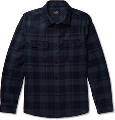 A.P.C. 50s Checked Wool-Blend Flannel Overshirt