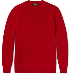 A.P.C. Milord Wool and Cashmere-Blend Sweater