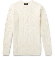 A.P.C. - Jacques Yves Slim-Fit Cable-Knit Wool Sweater