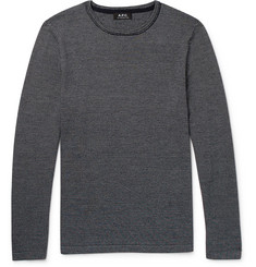 A.P.C. Toby Slim-Fit Striped Merino Wool Sweater