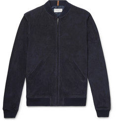 A.P.C. + Louis W The Ferris Slim-Fit Suede Bomber Jacket