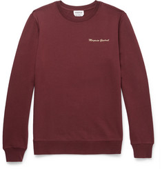 A.P.C. - Embroidered Loopback Cotton-Jersey Sweatshirt