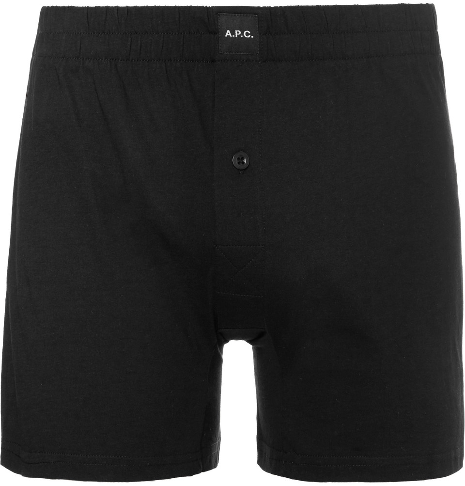 Cotton-jersey Boxer Shorts - Black