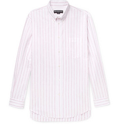 Balenciaga Oversized Button-Down Collar Cotton-Jacquard Shirt