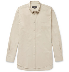 Balenciaga Button-Down Collar Cotton-Twill Shirt