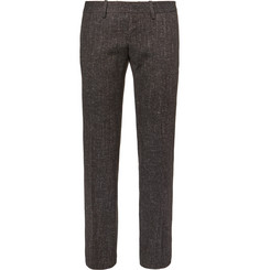 Balenciaga Slim-Fit Wool-Blend Tweed Trousers