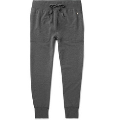 Polo Ralph Lauren Tapered Mélange Brushed Cotton-Blend Jersey Sweatpants