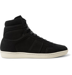 Saint Laurent SL/10H Court Classic Nubuck High-Top Sneakers