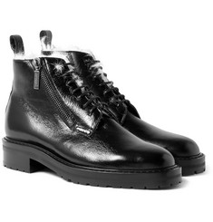 Saint Laurent - William Shearling-Lined Textured-Leather Boots