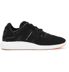 Y-3 Yohji Run Boost Suede-Trimmed Mesh Sneakers