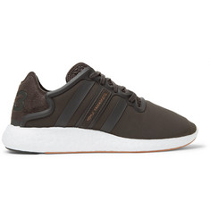 Y-3 Yohji Run Suede and Rubber-Trimmed Neoprene Sneakers
