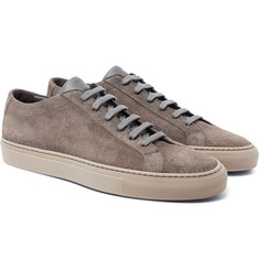 Common Projects - Achilles Low Leather-Trimmed Suede Sneakers