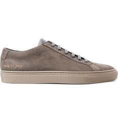 Common Projects Achilles Low Leather-Trimmed Suede Sneakers