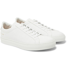 Common Projects - Achilles Low Pebble-Grain Leather Sneakers