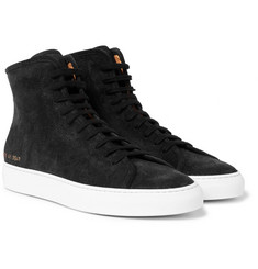Common Projects - Tournament Waxed-Suede High-Top Sneakers