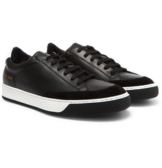 Common Projects Tennis Pro Suede-Trimmed Leather Sneakers
