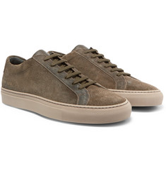 Common Projects Achilles Leather and Suede Sneakers