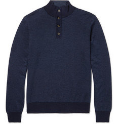Hackett Wool, Silk and Cashmere-Blend Sweater