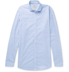 Hackett Mélange Brushed-Cotton Shirt