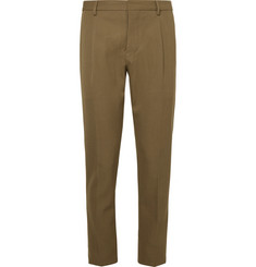 Berluti Olive Slim-Fit Twill Trousers