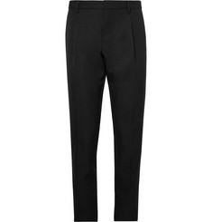 Berluti Black Slim-Fit Pleated Twill Trousers