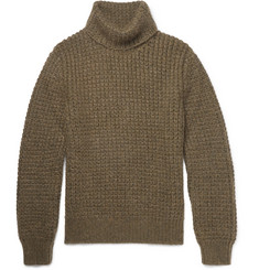 Berluti Waffle-Knit Wool-Blend Rollneck Sweater
