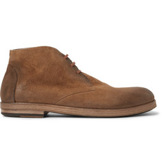 Marsell Washed-Suede Chukka Boots