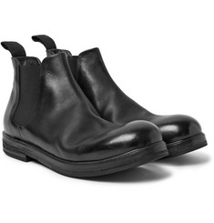 Marsell Leather Chelsea Boots