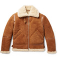 Acne Studios - Ian Leather-Trimmed Shearling Jacket